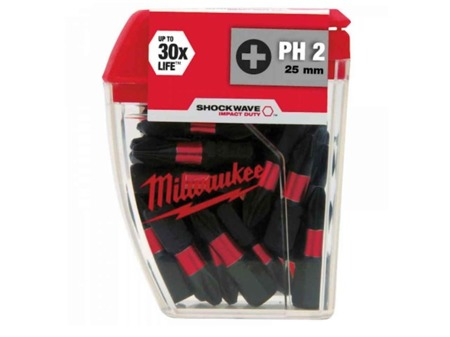 Milwaukee Bit Shockvawe PH2 25mm /opk. 25 szt./